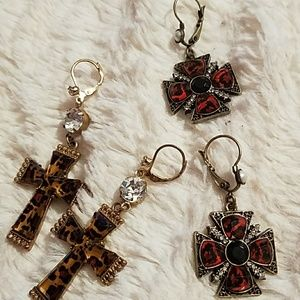 Betsey Johnson drop crosses